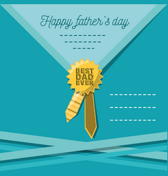 Fathers day card with prize decoration and vector