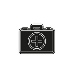 first aid bag icon - medical box - emergency icon vector image