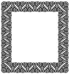 Frame with ornament vector