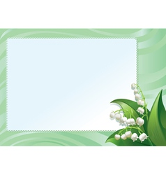 Frame with spring lilies vector