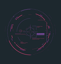 futuristic aiming system vector image