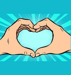 Gesture with hands heart vector