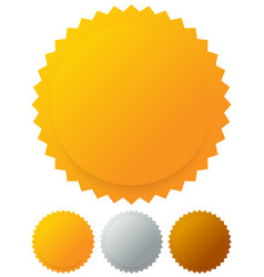 gold silver bronze medals badges graphics vector image