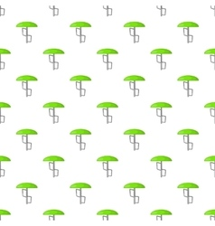 Green playground umbrella pattern cartoon style vector image