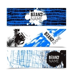 Grunge Texture Color Banner Set vector image