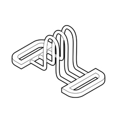 Hand expander gym equipment icon outline style vector