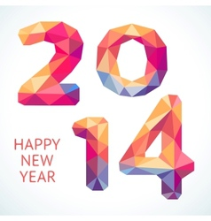Happy New Year colorful greeting card made in vector image