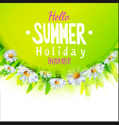 Hello summer card vector