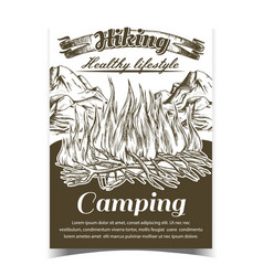 hiking camping adventure advertise banner vector image