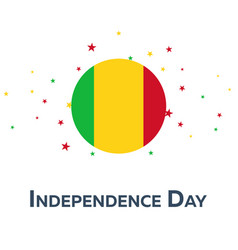 independence day of mali patriotic banner vector image