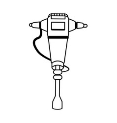 jackhammer heavy machinery icon image vector image