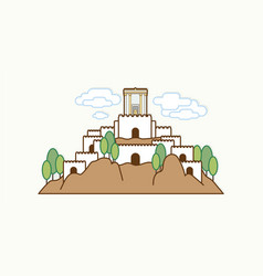 jerusalem israel temple at old city israel vector image