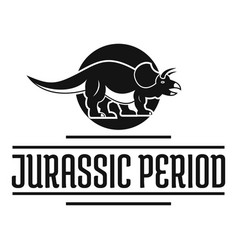Jurassic period logo simple black style vector