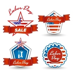 Labor day stickers vector image