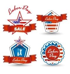 Labor day stickers vector