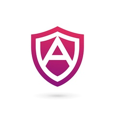 Letter A shield logo icon design template elements vector