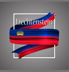 Liechtenstein flag official national 3d vector