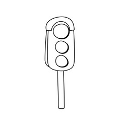 line traffic light object to urban caution vector image