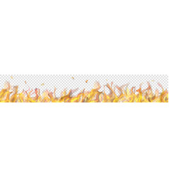 Long fire flame with horizontal repeat vector