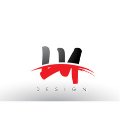 ly l y brush logo letters with red and black vector image