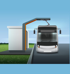 modern electric bus vector image