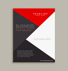 modern minimal brochure design template vector image