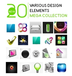 Multipurpose design elements mega collection vector