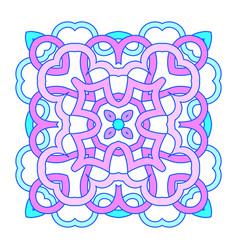 ornamental square mandala vector image