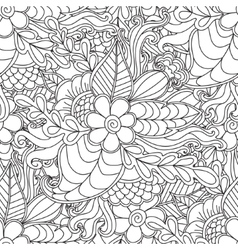 Pages for adult coloring book Hand drawn artistic vector