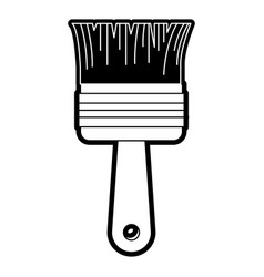 paint brush icon black silhouette vector image
