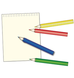 pastel and notepad vector image