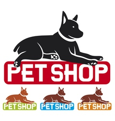 Pet shop label vector
