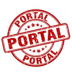 Portal red grunge stamp vector