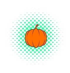Pumpkin icon pop-art style vector