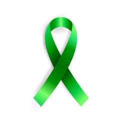 Realistic green ribbon vector