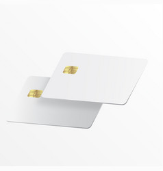 realistic white credit card vector image