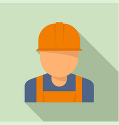 reconstruction worker icon flat style vector image