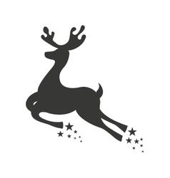 reindeer deer christmas flying icon vector image