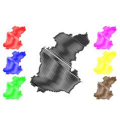 Roi et province map vector
