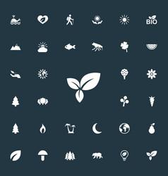Set of simple bio icons vector