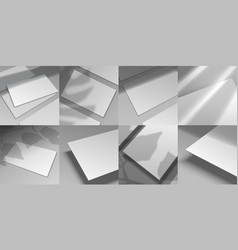 Shadow overlay mockup realistic white paper vector