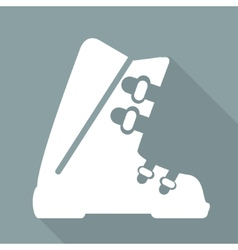 ski shoes web icon vector image