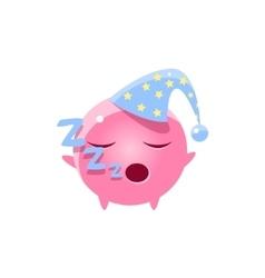 Sleeping Round Character Emoji vector image
