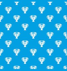 snake pattern seamless blue vector image