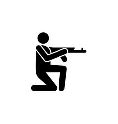 soldier gun shooting icon can be used for web vector image