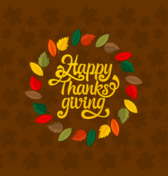 typography thanksgiving vector image