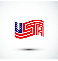 usa logo america flag sign amp symbol flat vector image