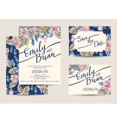 Wedding invitations template vector
