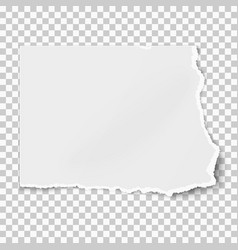 White square paper tear isolated on transparent vector