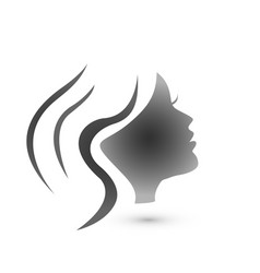 woman hair style silhouette logo vector image